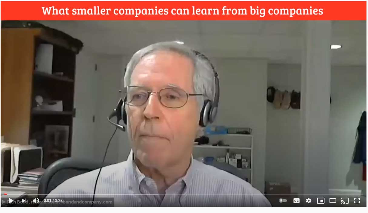 What Small Companies Can Learn From Big Companies